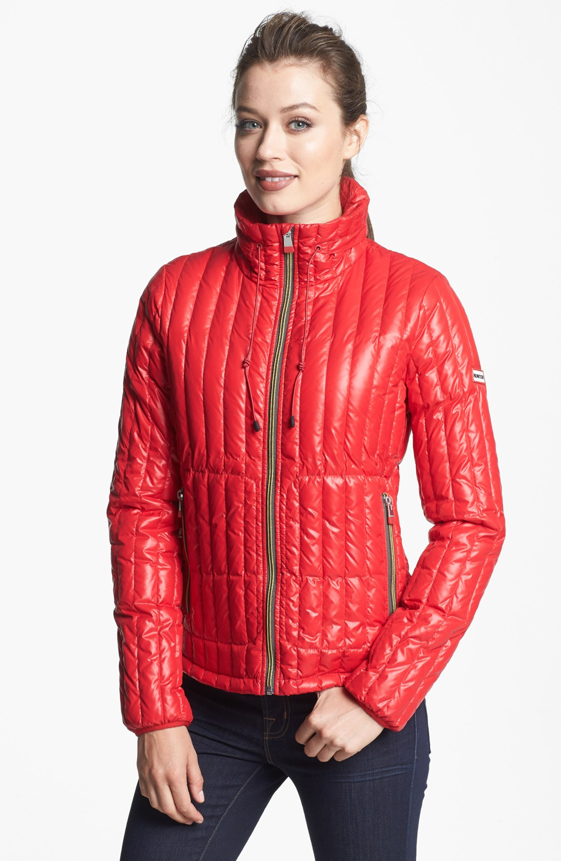 Hunter Tour Packable Down Jacket In Red Lyst