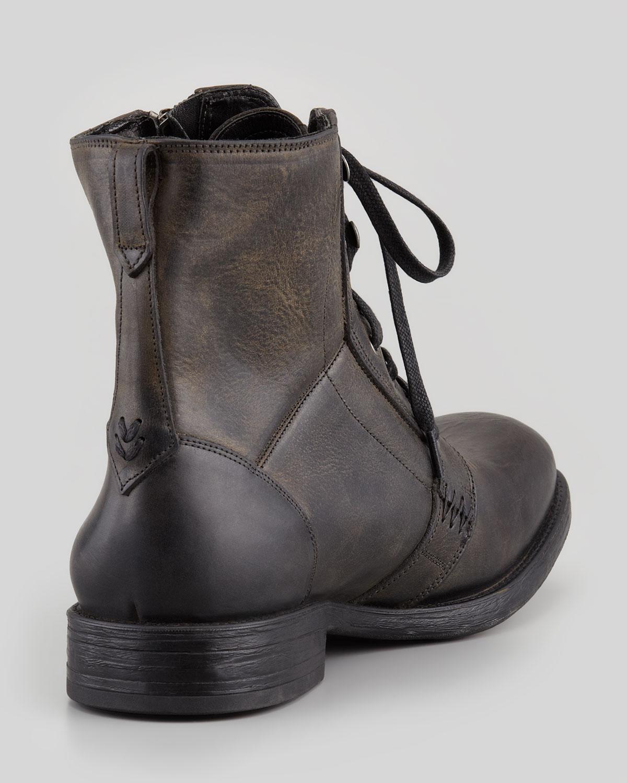 John Varvatos Bleeker Side Zip Boot In Gray For Men Lyst
