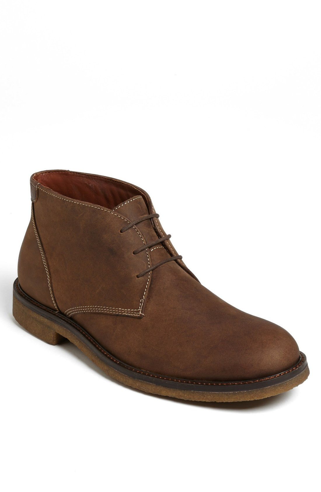 johnston murphy copeland suede chukka boot in brown for