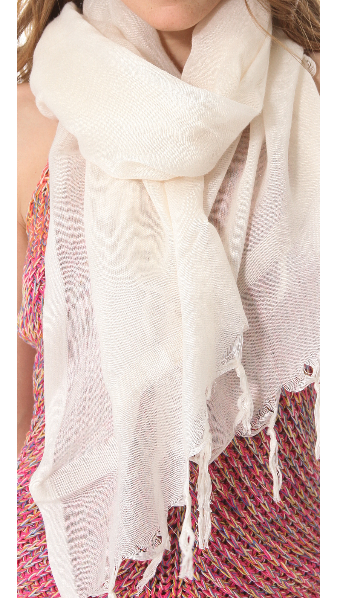 Love Quotes Scarf Love Quotes Knotted Tassel Scarf In Natural  Lyst