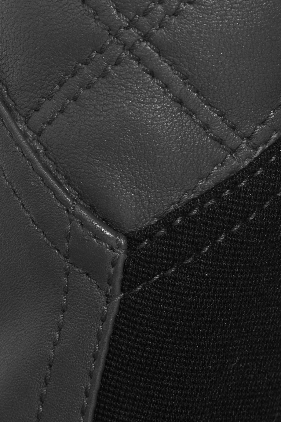 Matthew Williamson Paneled Skinny Leather Pants in Charcoal (Grey)