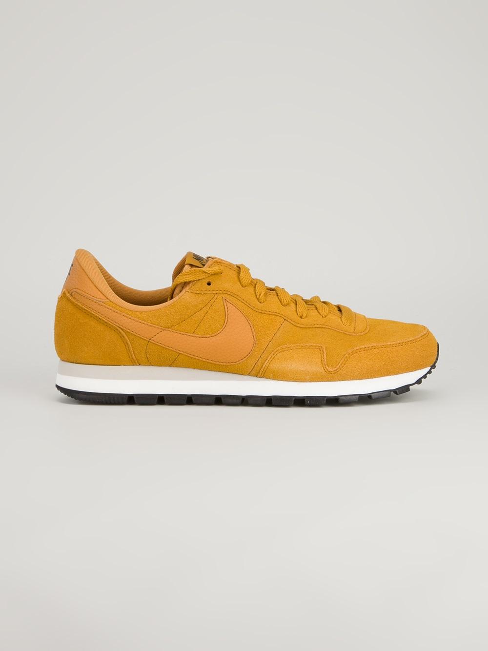 Nike Yellow Air Pegasus 83 Suede Trainer for men