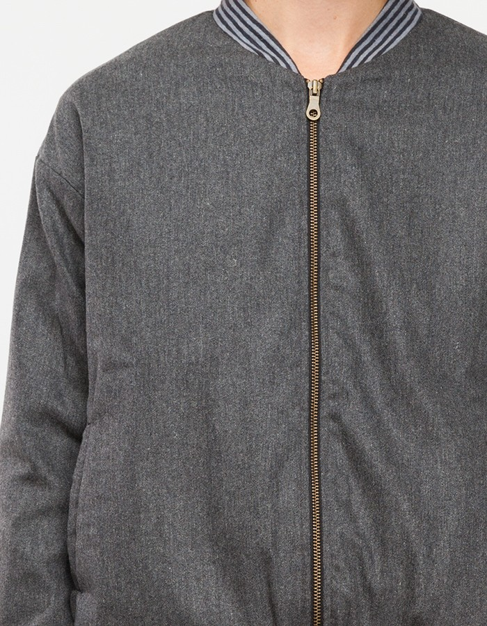 Objects without meaning Ally Bomber Jacket in Gray | Lyst