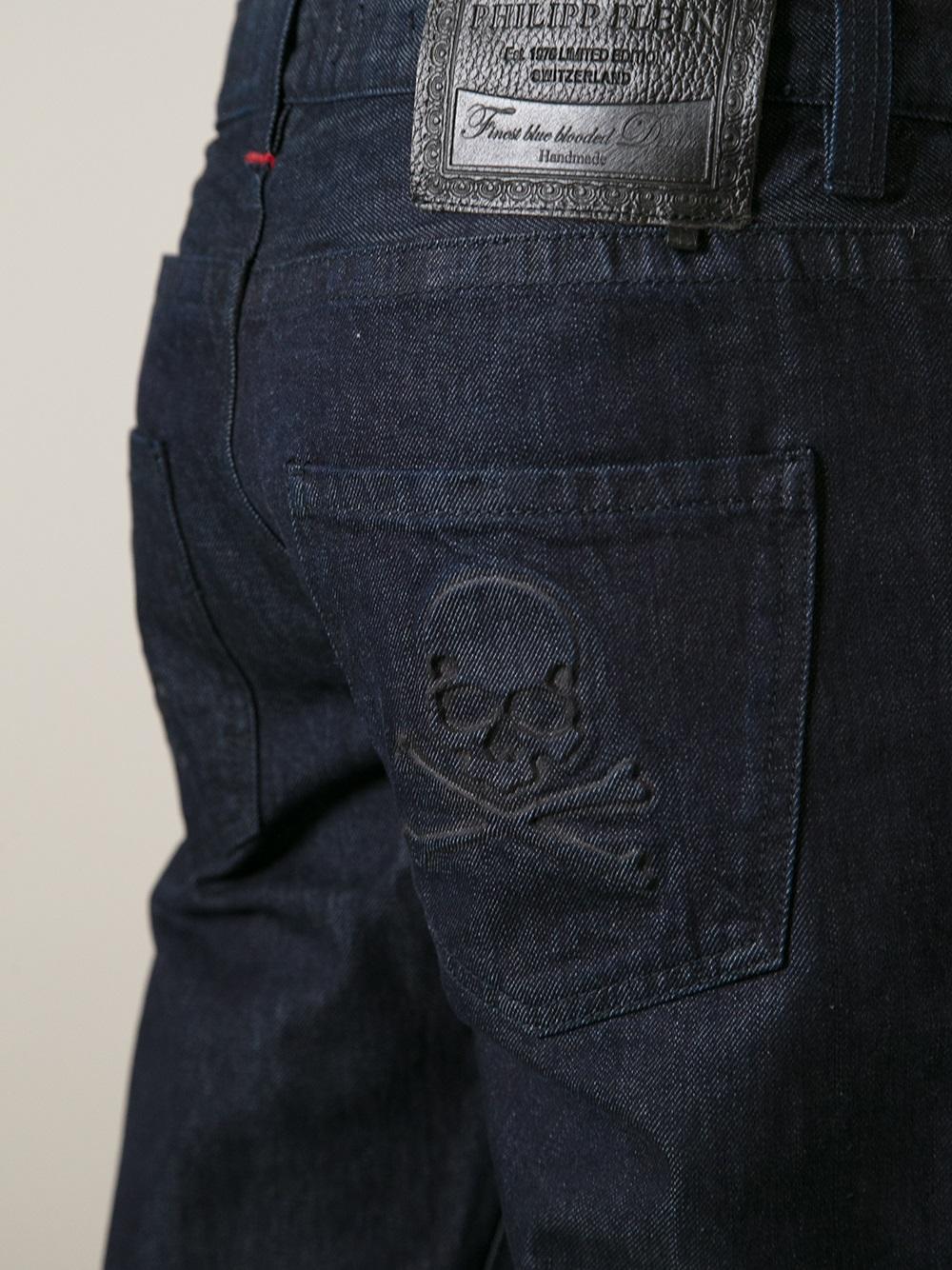 philipp plein denim jean in blue for men lyst. Black Bedroom Furniture Sets. Home Design Ideas