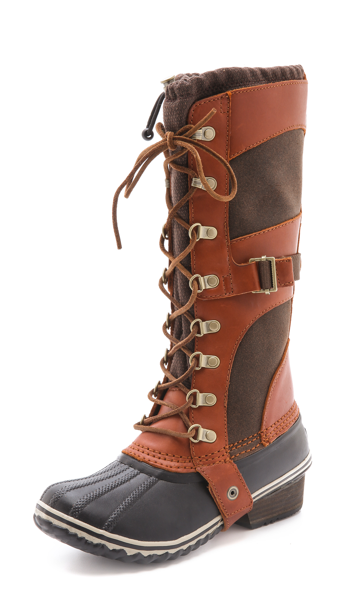 New Sorel Womens Conquest Carly Boot Cinnamon Size 6