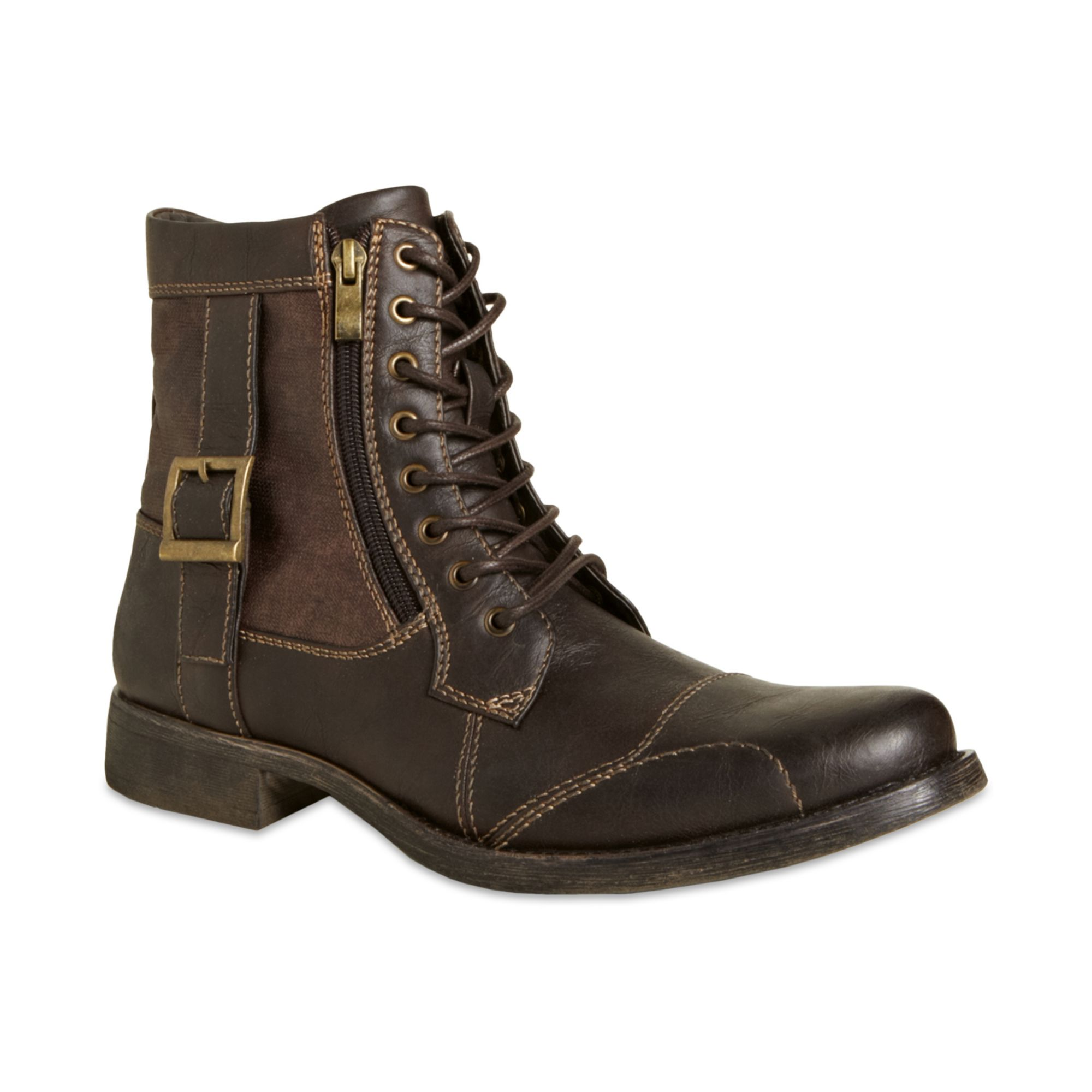 steve madden madden mens shoes boston zip boots in