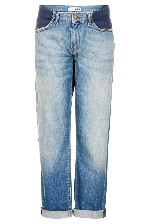 Topshop Maternity Moto Vintage Boyfriend Jeans in Blue | Lyst