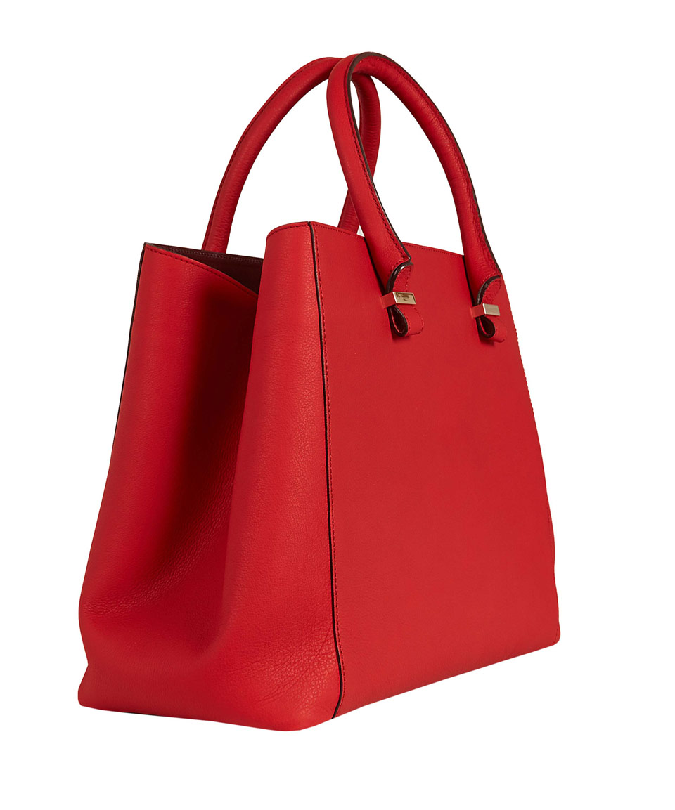 1408e0b6481 Victoria Beckham Red Liberty Leather Tote Bag in Red - Lyst