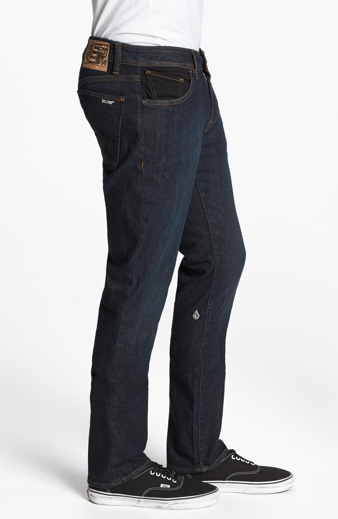 Volcom Men's 2x4 Stretch Denim Jean, ATB, The 2x4 is Volcom slimmest fit denim. This skinny jean is comfortably tight in the legs and waist with a 14 inch opening at the ankle and comes in .
