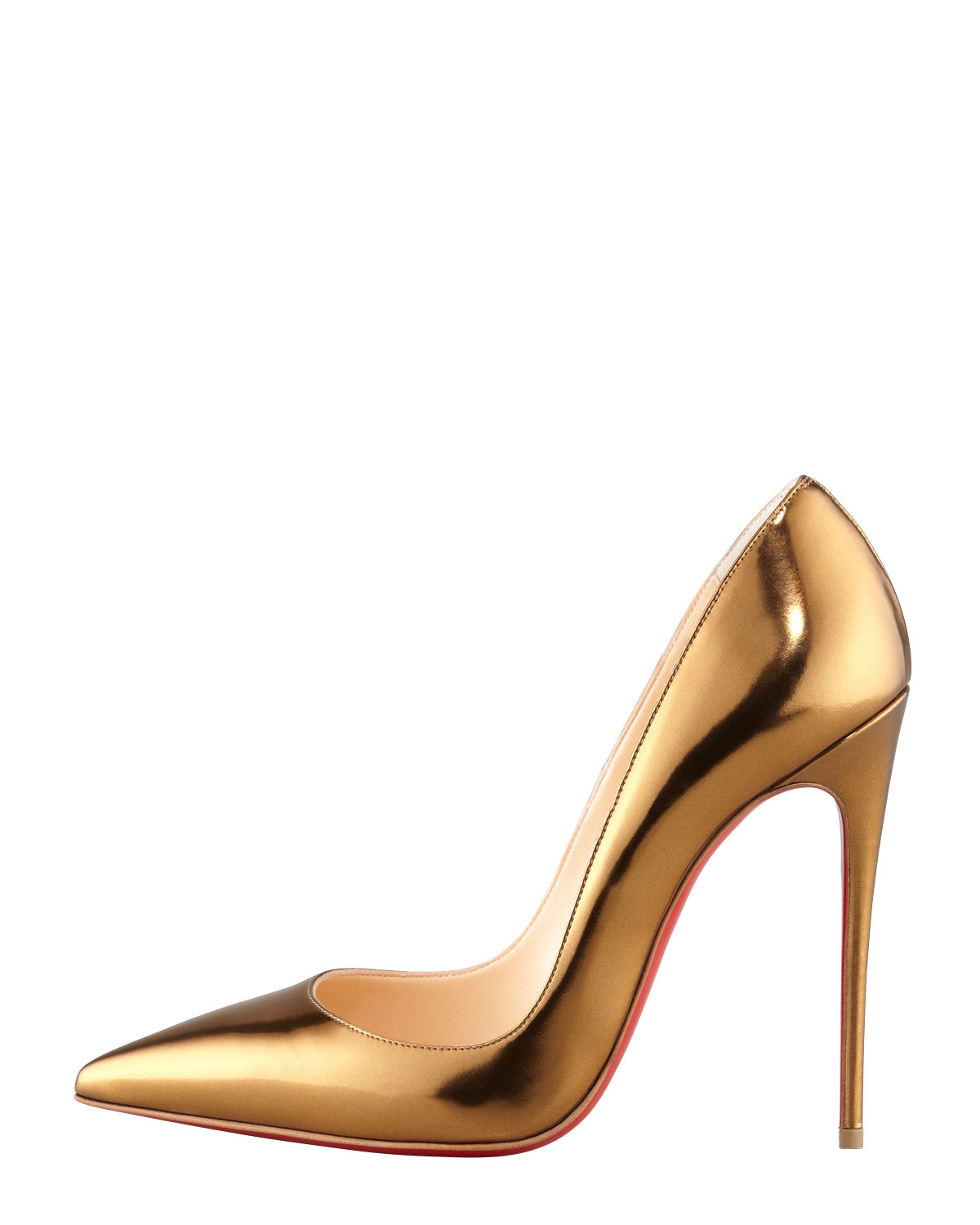 new styles 700f1 f452a Christian Louboutin Metallic So Kate Mirrored Leather Red Sole Pump Bronze