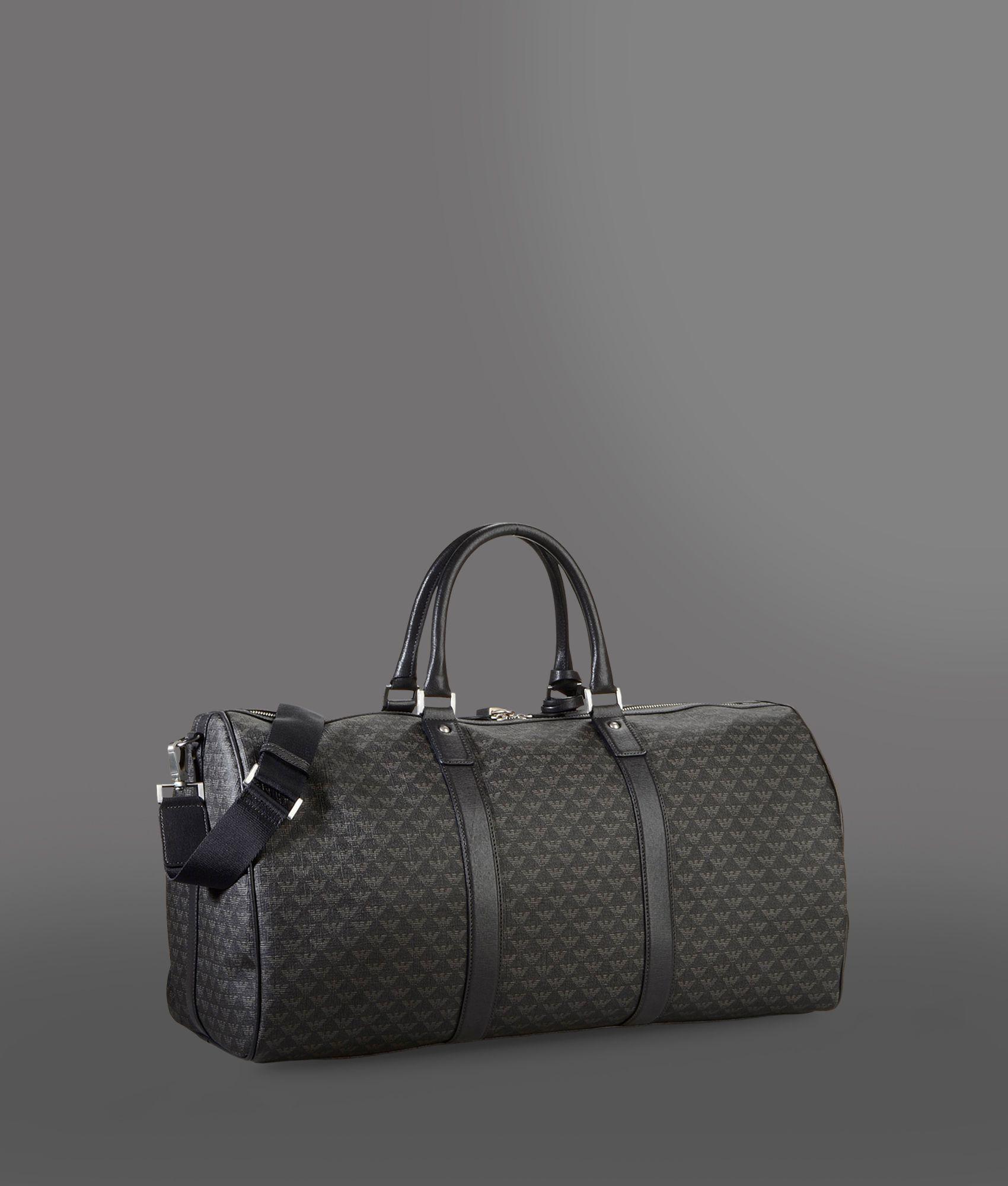 Lyst - Emporio Armani Weekender Bag in Gray for Men 47bada5667cf4