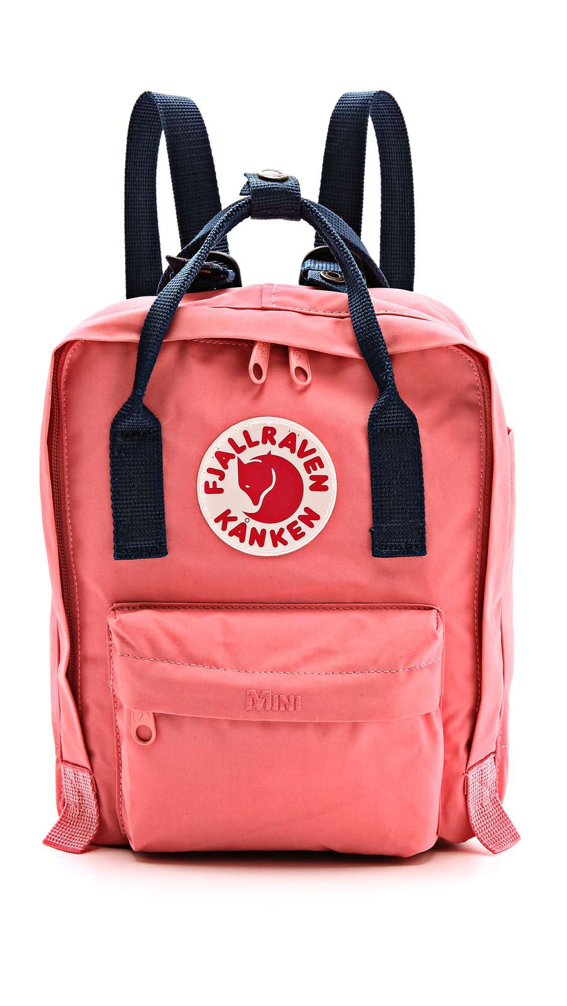 fjallraven kanken mini backpack in pink pink royal blue. Black Bedroom Furniture Sets. Home Design Ideas