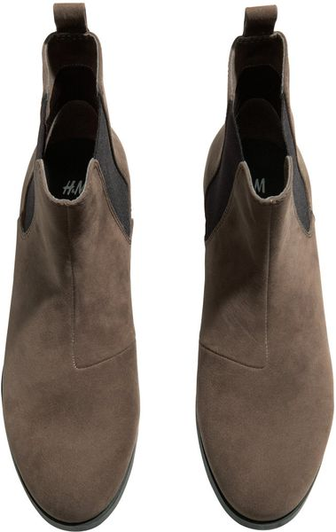 h m flat boots in brown lyst