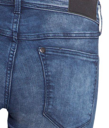 h m super skinny super low jeans in blue denim blue lyst. Black Bedroom Furniture Sets. Home Design Ideas