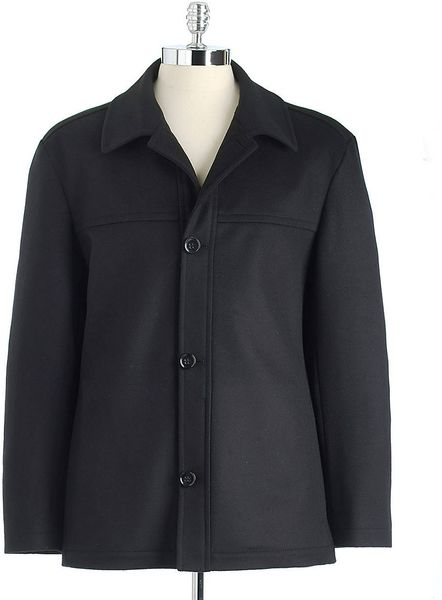 Hugo Boss Chester Buttonfront Coat in Black for Men