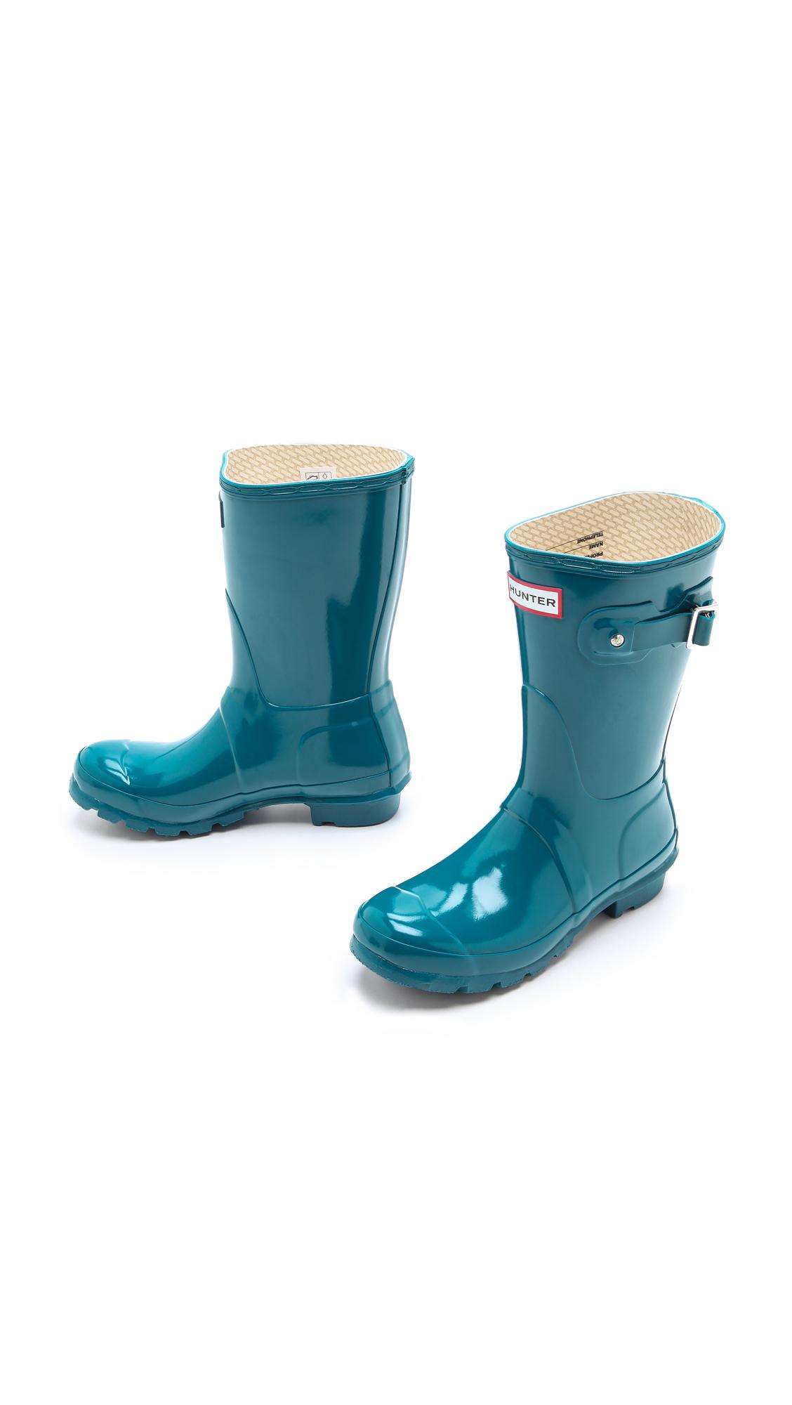 Original Gloss Short Feather Hunter- Blue boots