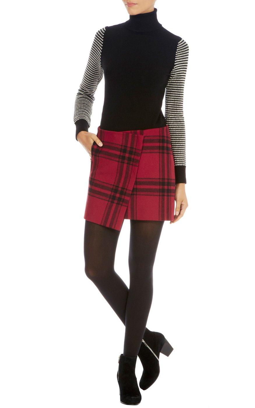 Lyst Karen Millen Masculine Oversize Check Skirt In Black
