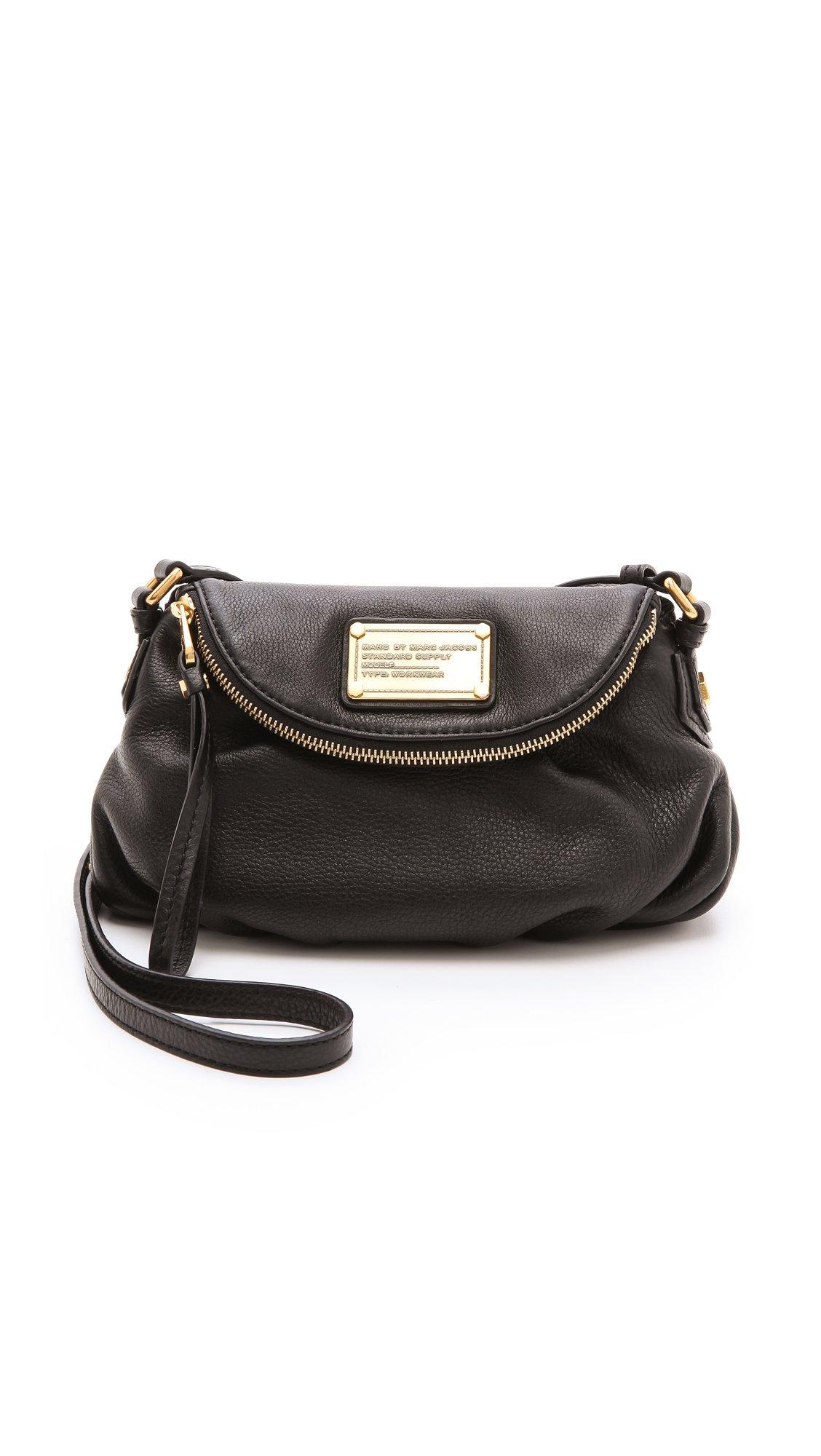 marc by marc jacobs classic q mini natasha bag in black lyst. Black Bedroom Furniture Sets. Home Design Ideas