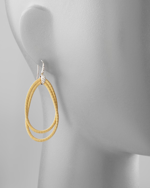 Marco Bicego Diamond Cairo 18k Serpentine-Drop Earrings ADx6y