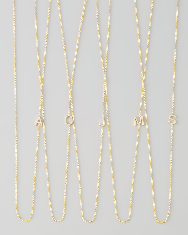 Maya Brenner Designs 14k Yellow Gold Mini Letter Necklace de6fHt