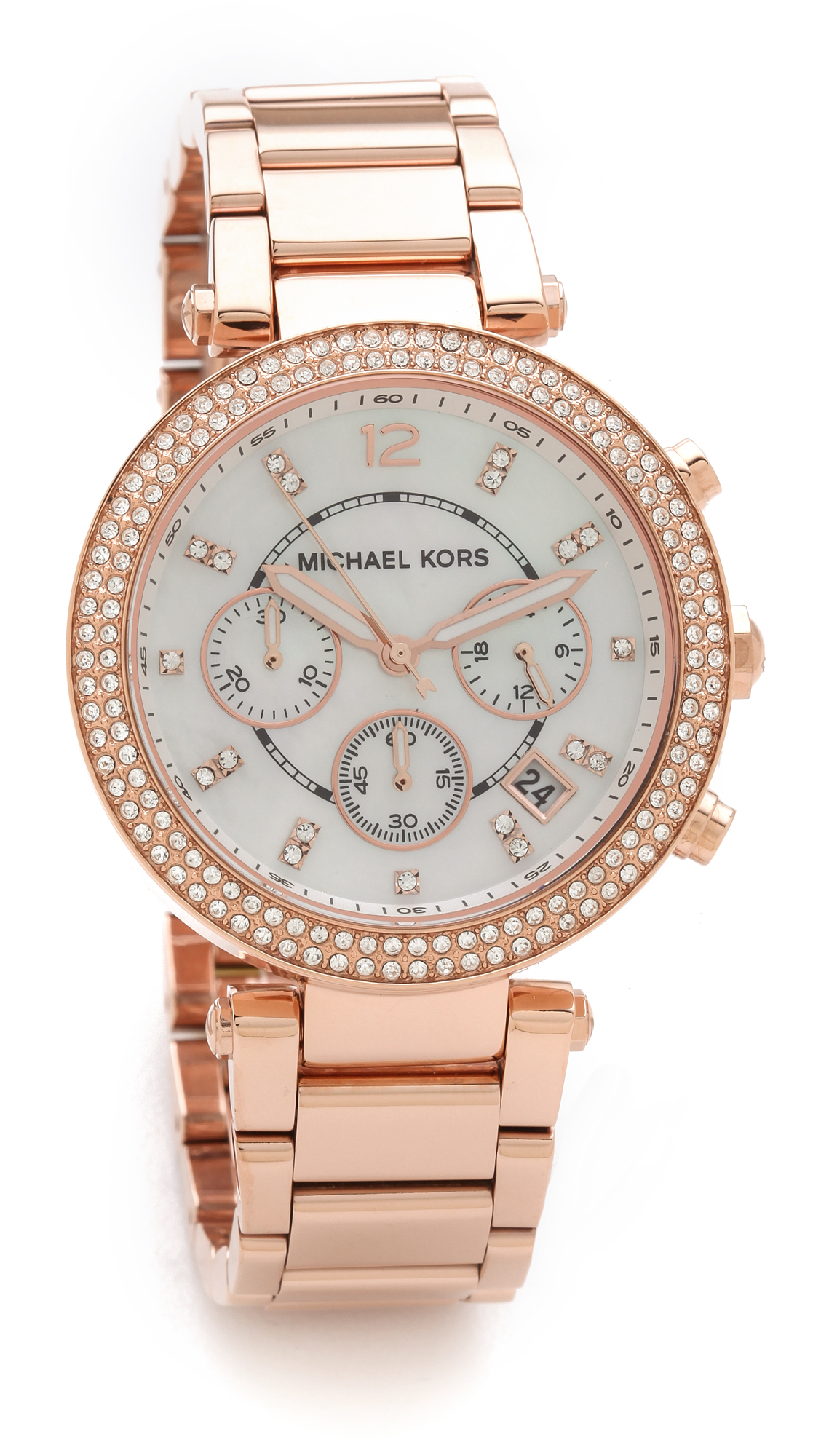 Michael kors parker watch rose gold in gold rose gold lyst for Watches michael kors