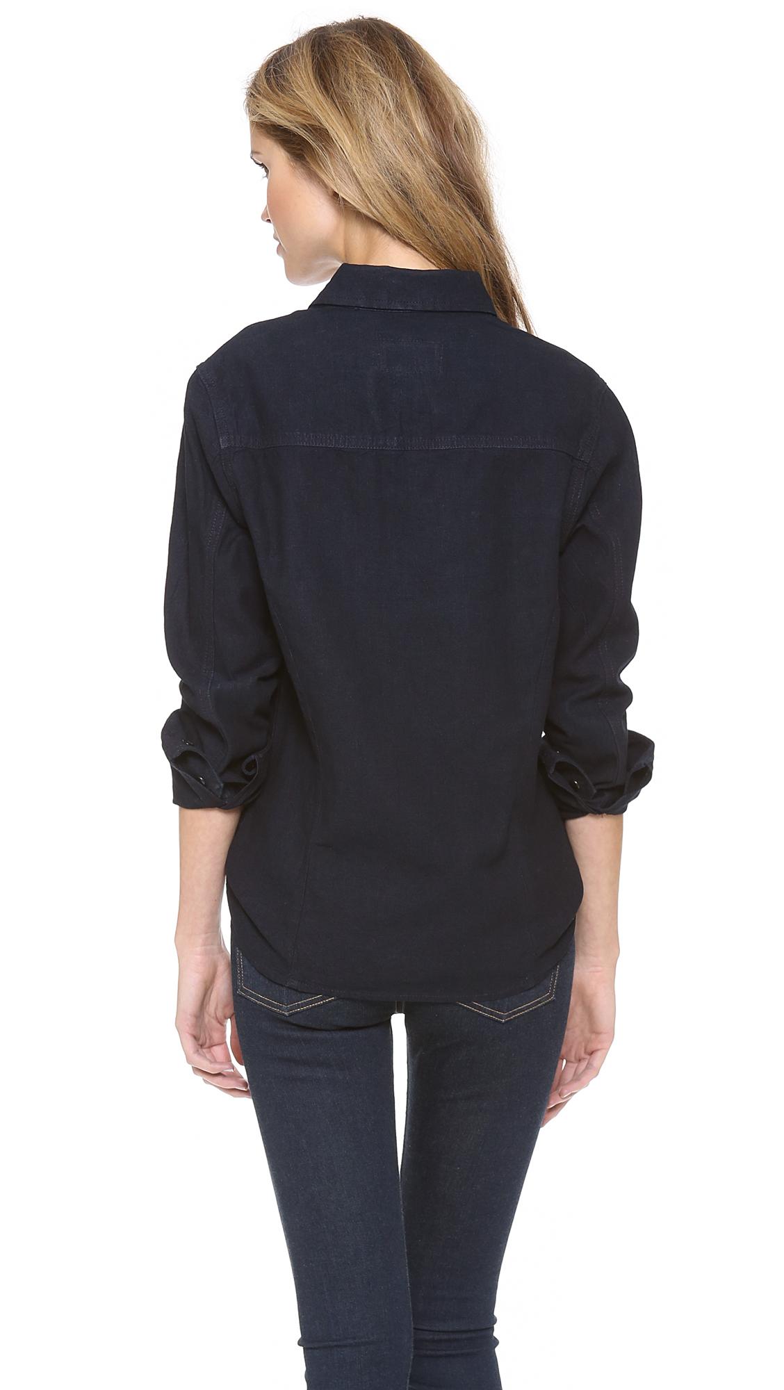Lyst - Rag & Bone The Western Shirt in Blue
