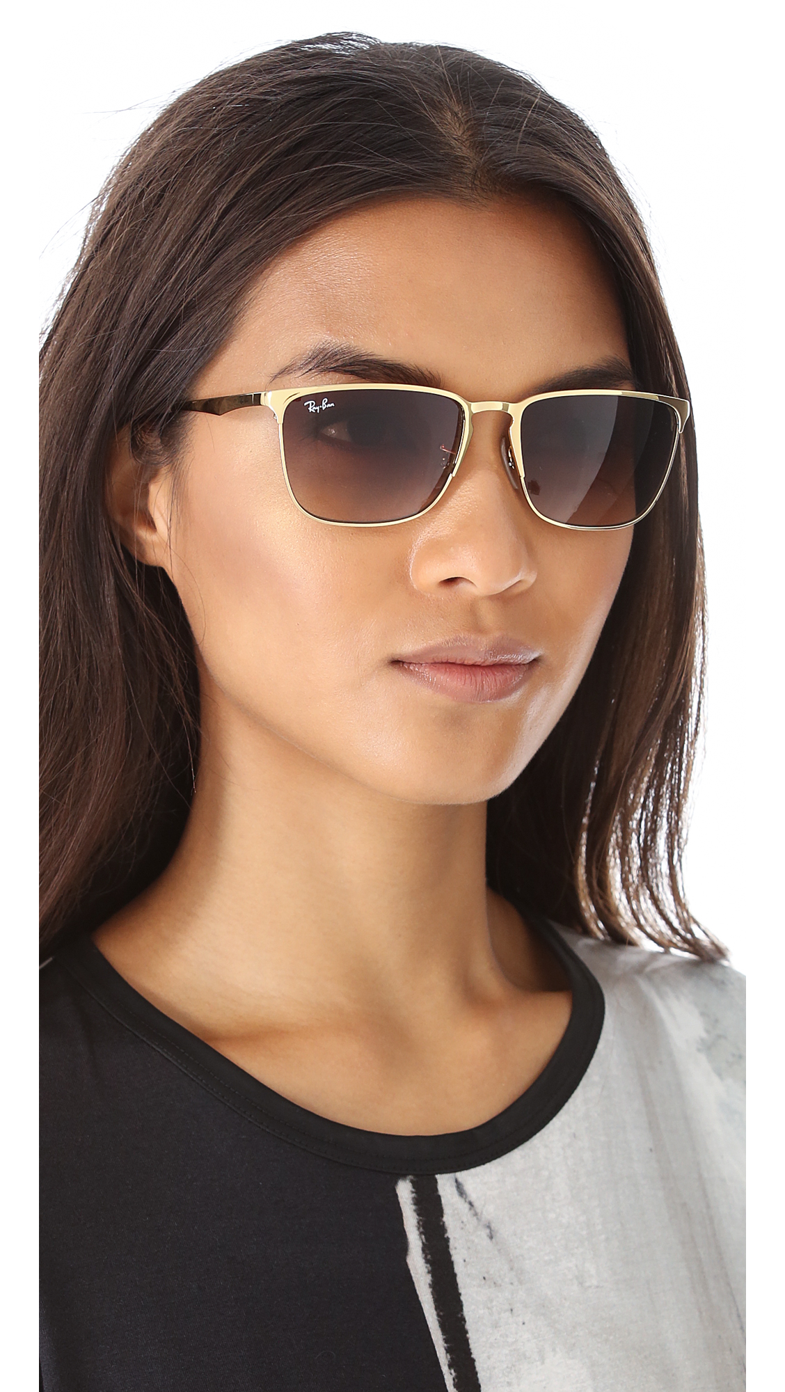 0903a51fb4 Ray-Ban Highstreet Square Sunglasses in Brown - Lyst