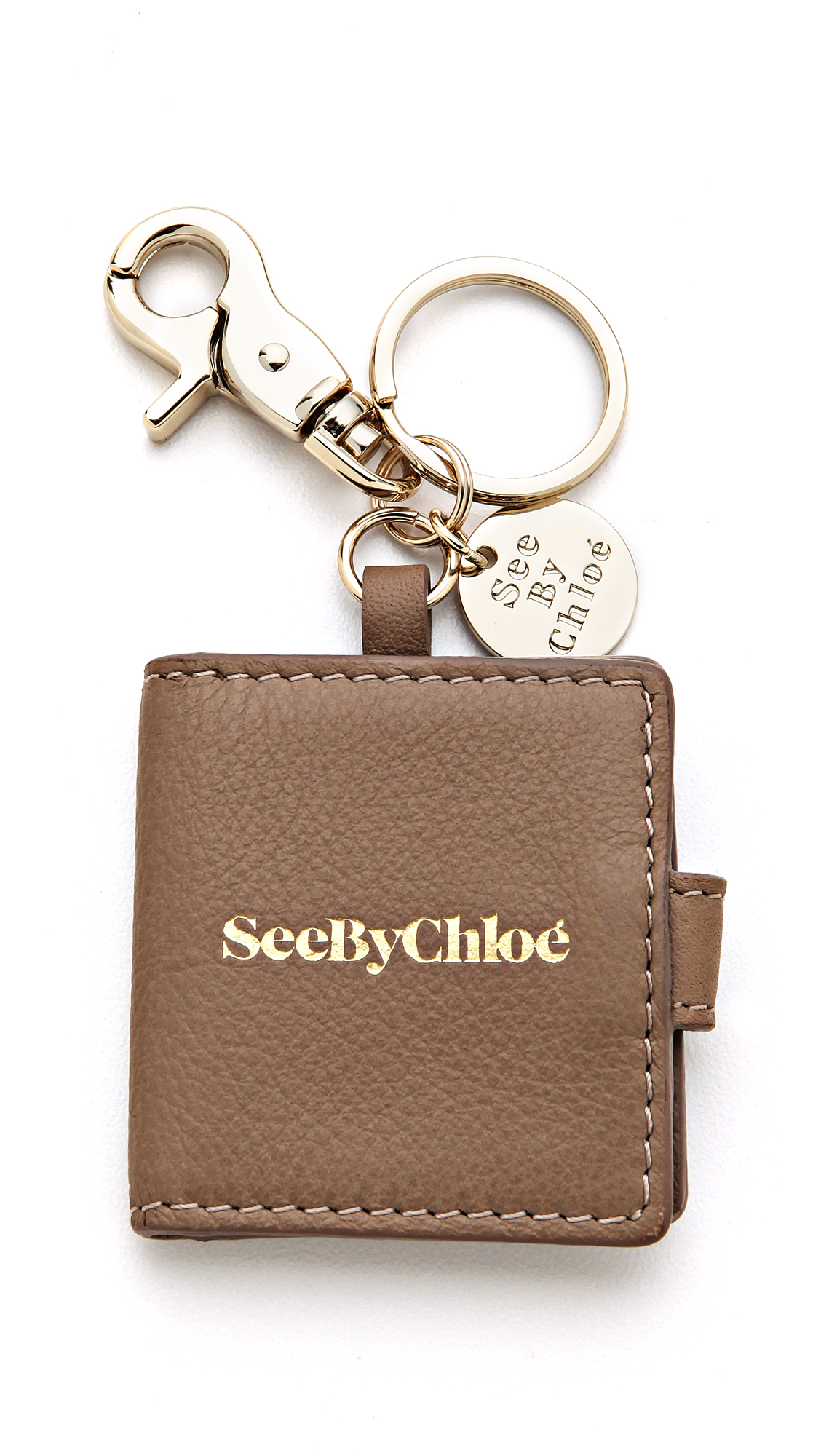 Lyst see by chlo picture frame keychain in brown gallery jeuxipadfo Image collections