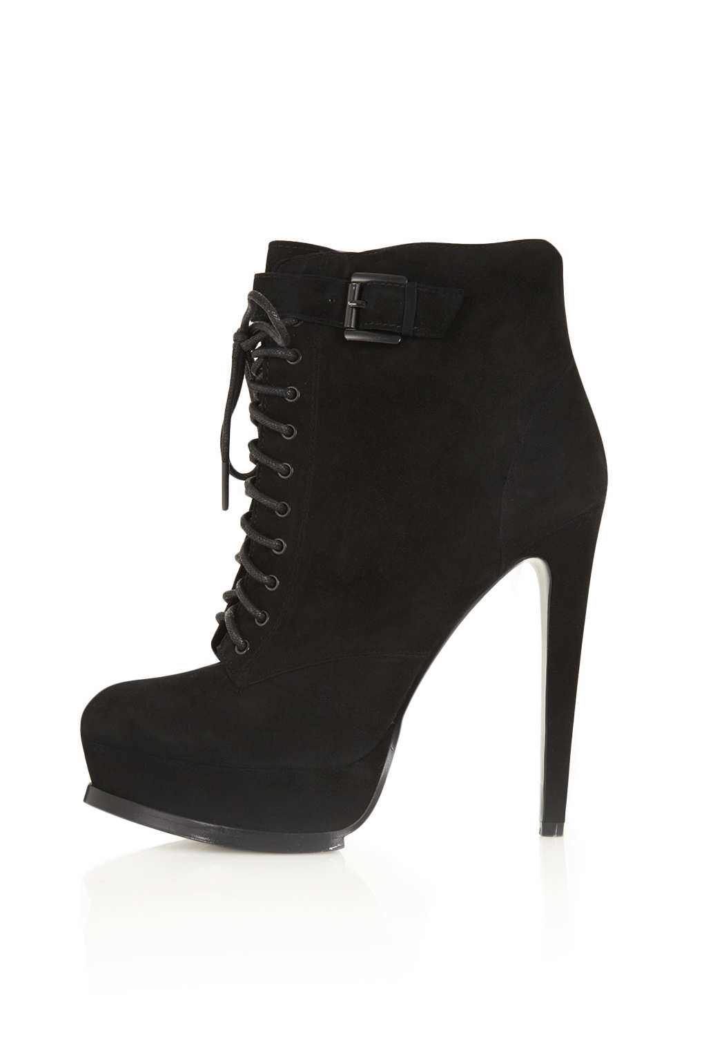TOPSHOP Priceless Premium Leather Boots in Black