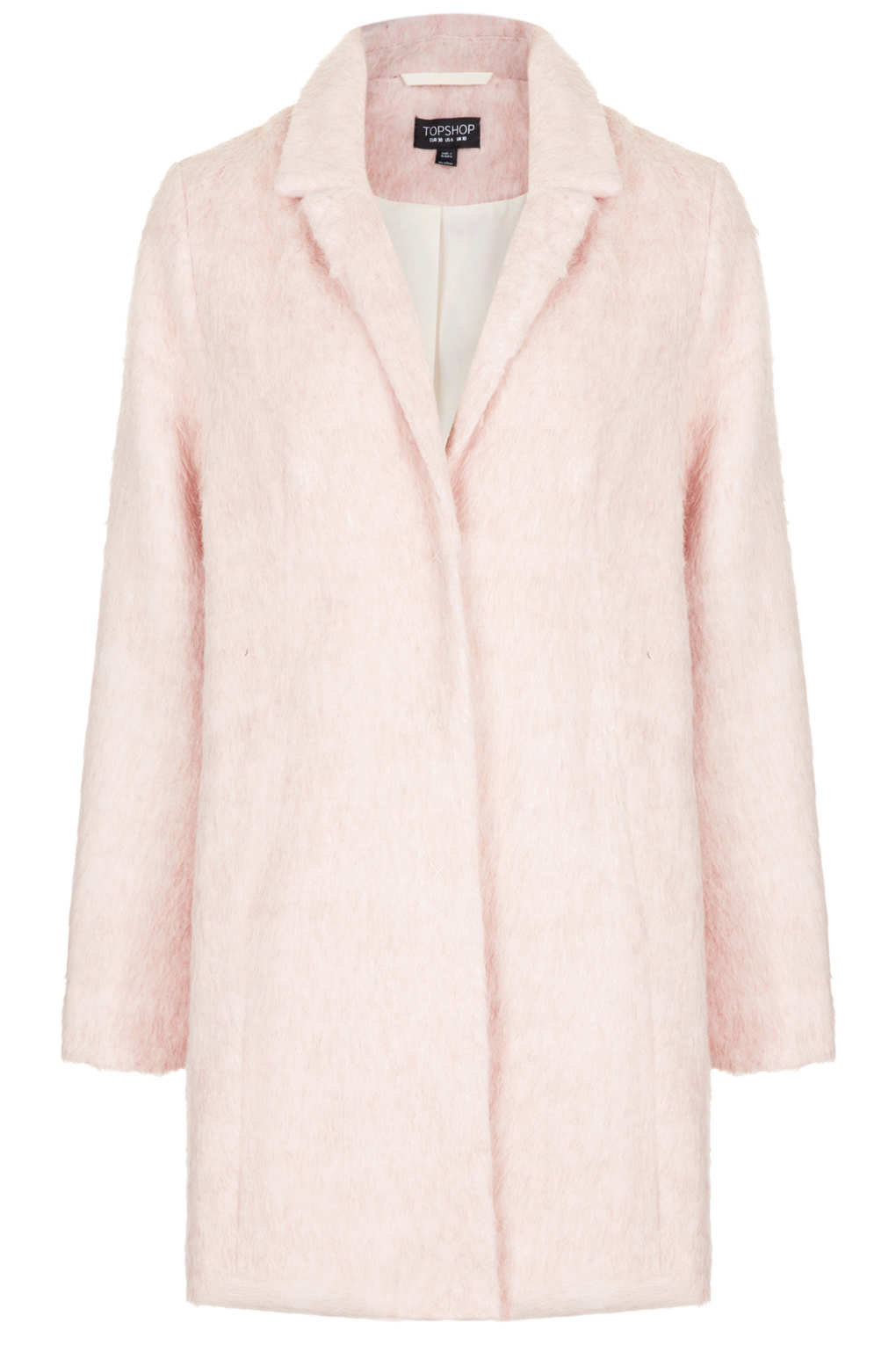 Topshop Pink Fluffy Coat - Coat Nj