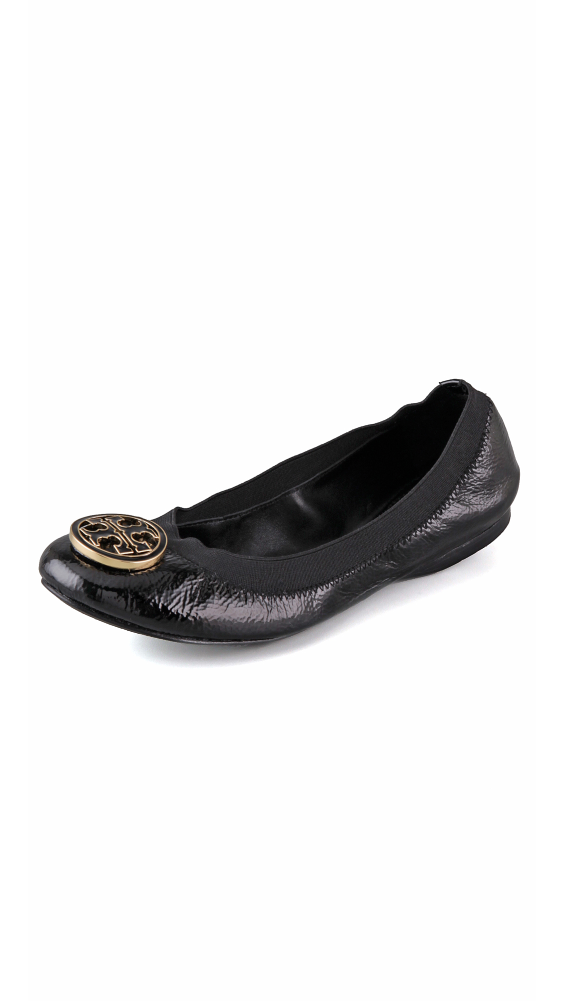 Product - Tory Burch Laura Flip Flop Flats Thong Tumbled Leather TB Logo (8, Spark Gold) Product Image. Price $ Product Title. Tory Burch Laura Flip Flop Flats Thong Tumbled Leather TB Logo (8, Spark Gold) Add To Cart. There is a problem adding to cart. Please try again.