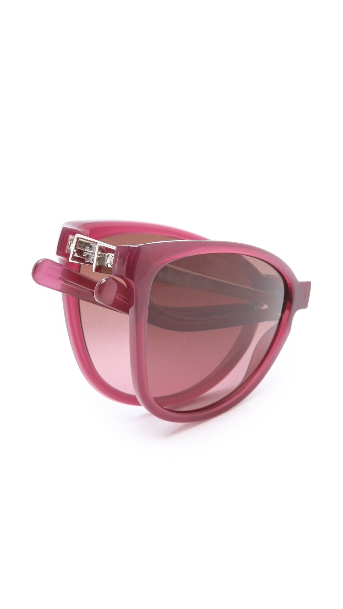 Foldable Sunglasses  tory burch modern foldable sunglasses in purple lyst