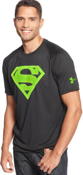 Under Armour Alter Ego Superman Tshirt In Black For Men