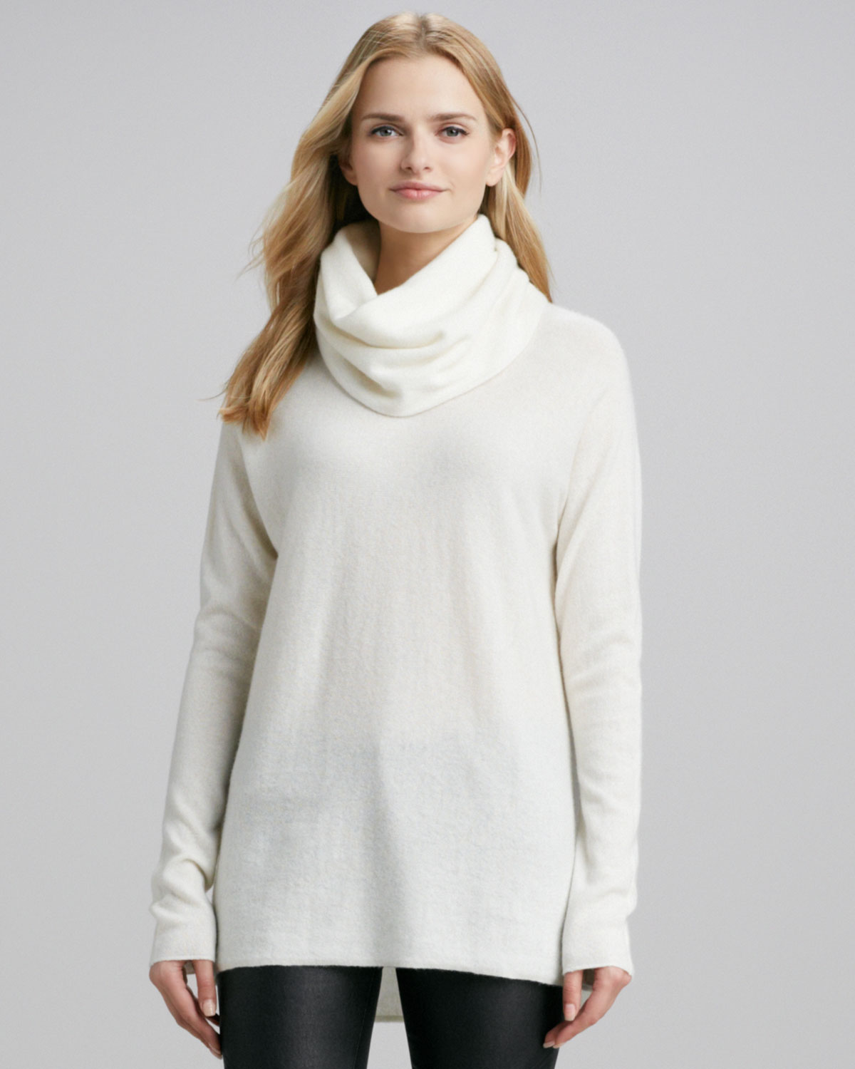 Womens White Pullover Sweater