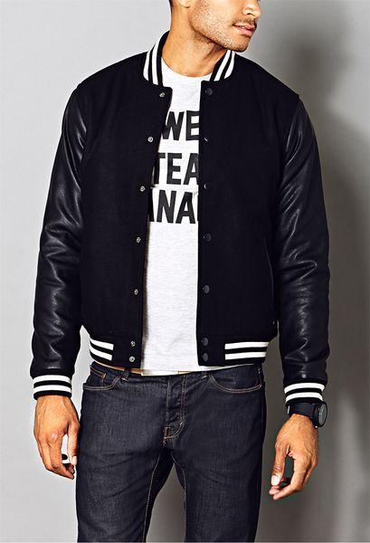 21men Fresh Varsity Jacket In Black For Men Lyst