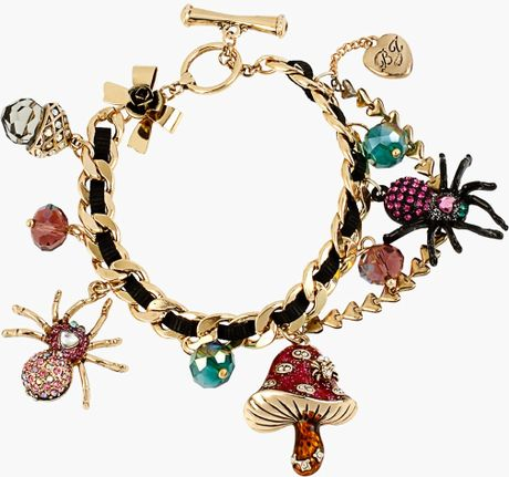 Betsey Johnson Enchanted Forest Charm Toggle Bracelet in Multicolor ...
