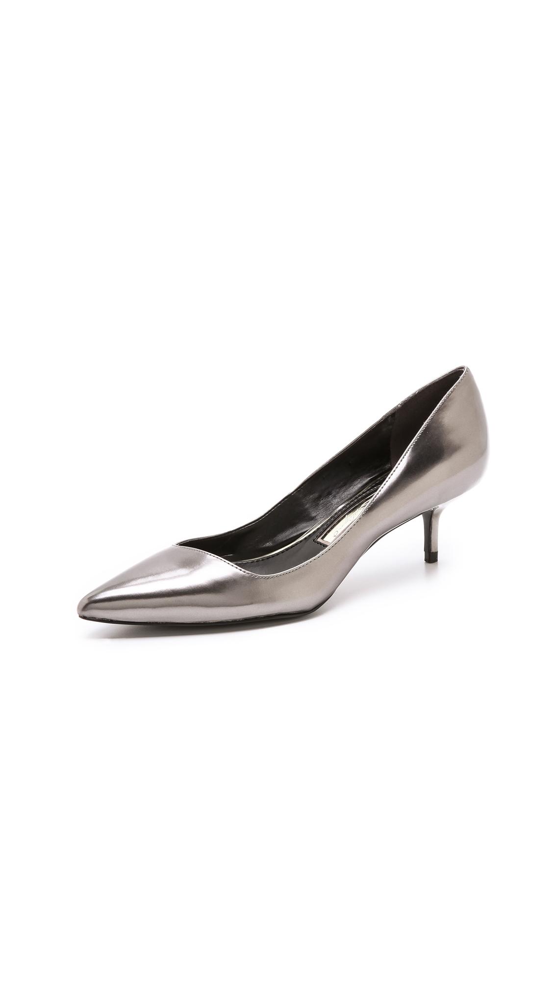 Boutique 9 Sophina Metallic Pumps On Kitten Heel in Metallic | Lyst