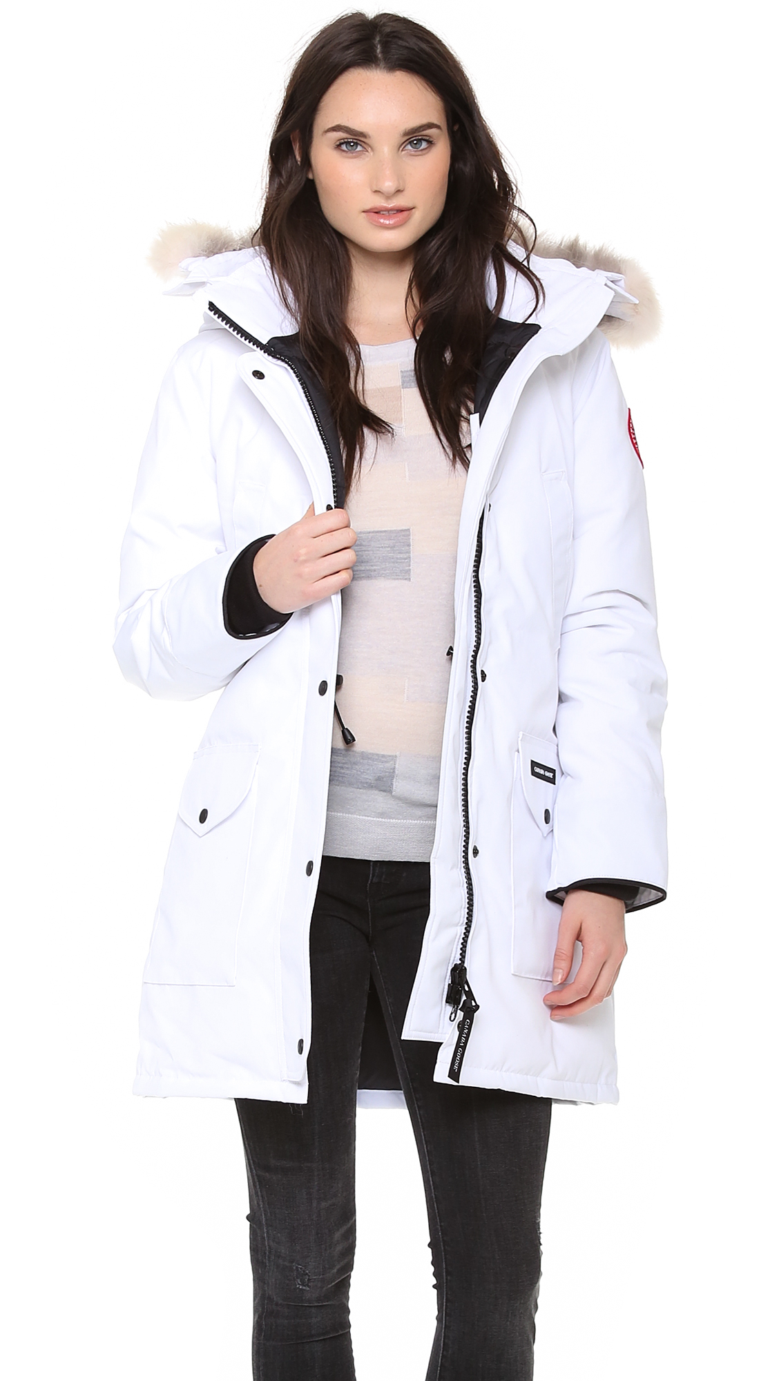 Aninimal Book: Lyst - Canada Goose Trillium Parka White in Natural