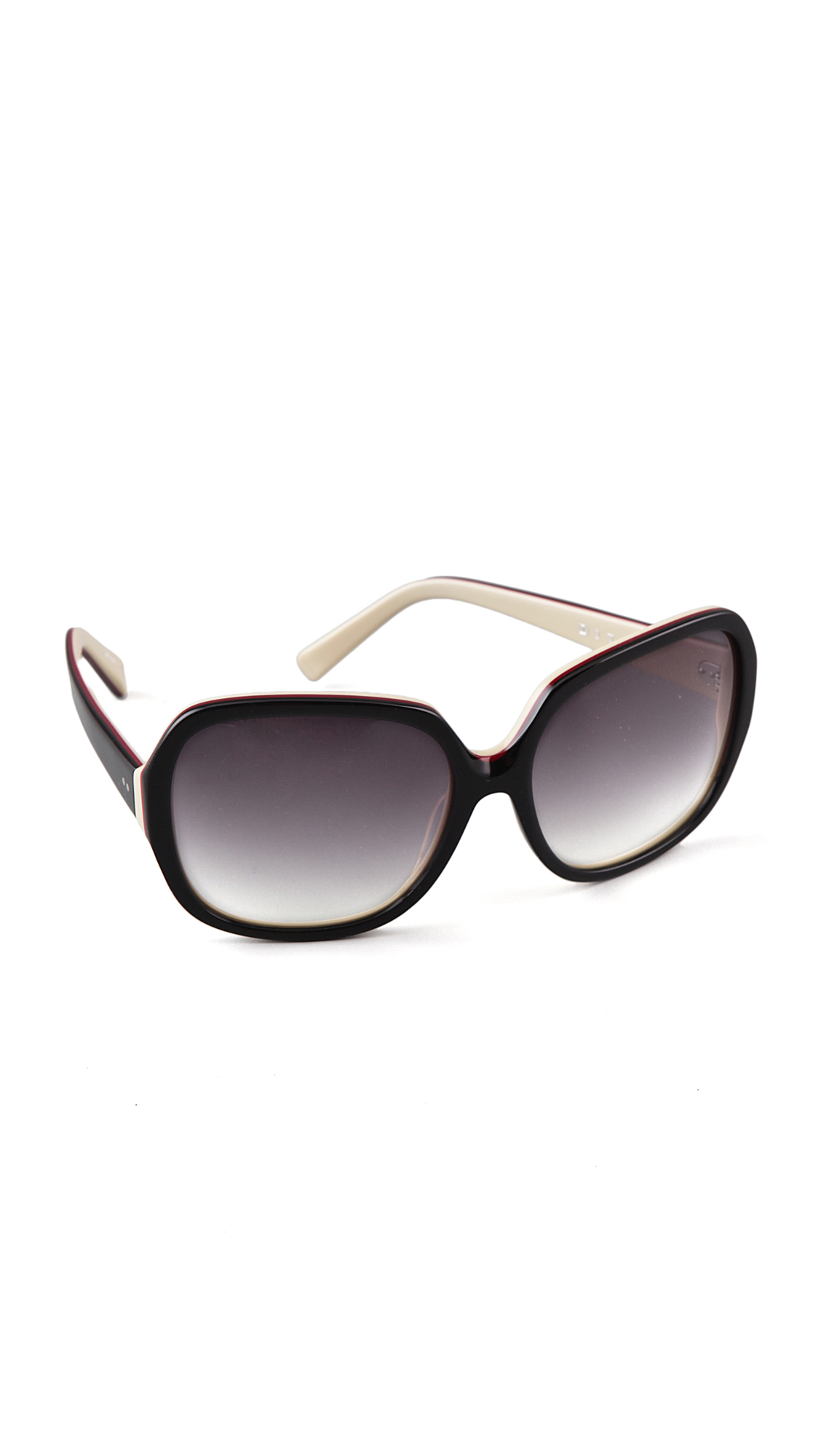 Dita Eyewear Supa Dupa Sunglasses in Black & Cream (Black)