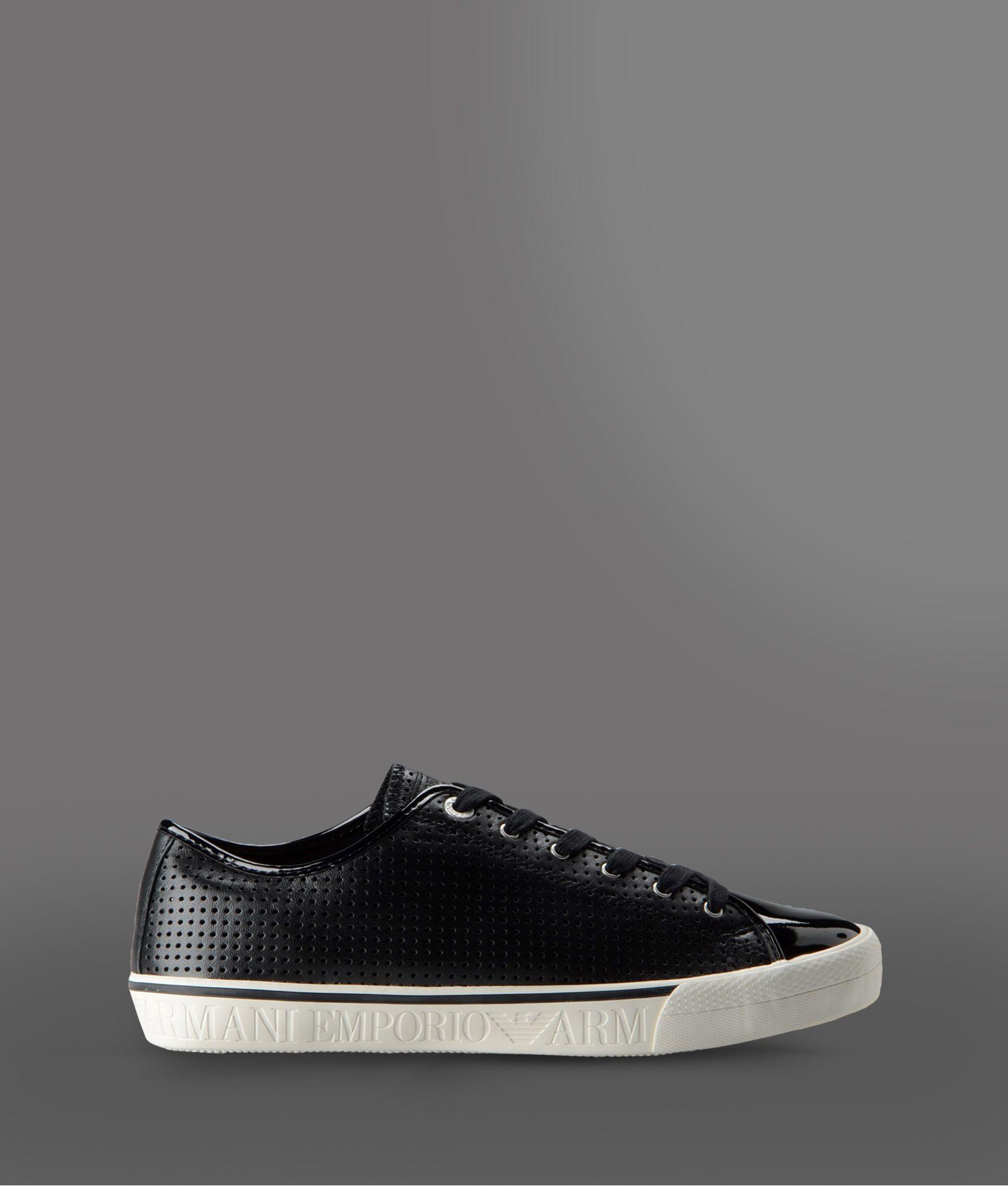 Lyst Emporio Armani Sneakers In Black For Men
