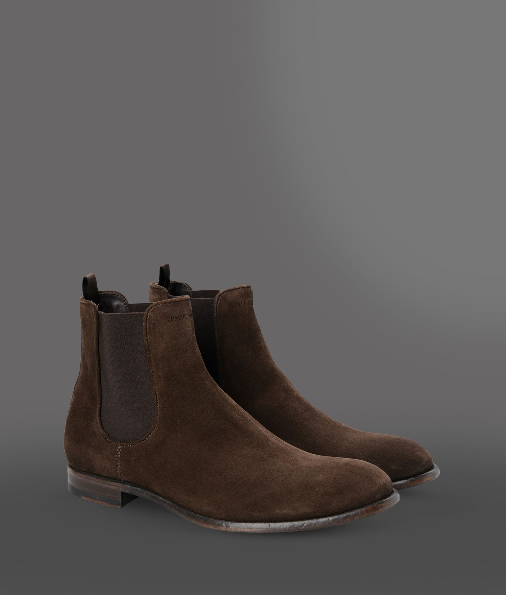 Emporio Armani Ankle Boots In Brown For Men Lyst