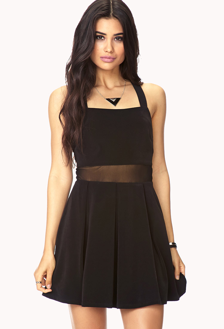 Lyst - Forever 21 Forget Me Not Mesh Dress in Black - photo #6