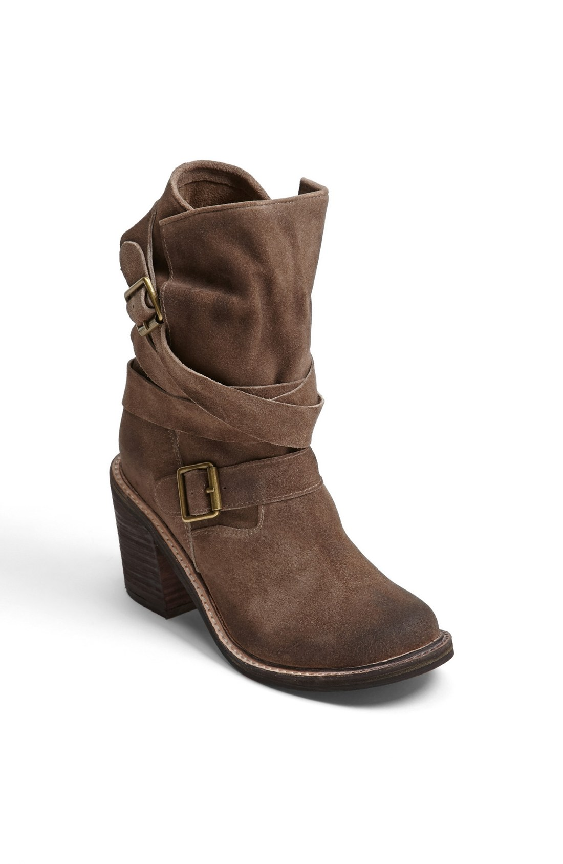 jeffrey campbell new france boot in gray grey distressed suede lyst. Black Bedroom Furniture Sets. Home Design Ideas