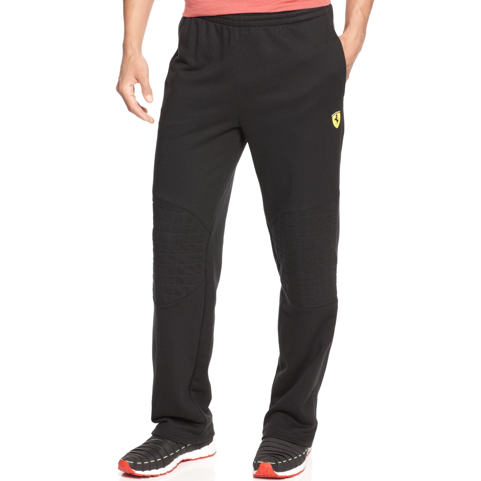 Puma Scuderia Ferrari Sweat Pants In Black For Men Lyst