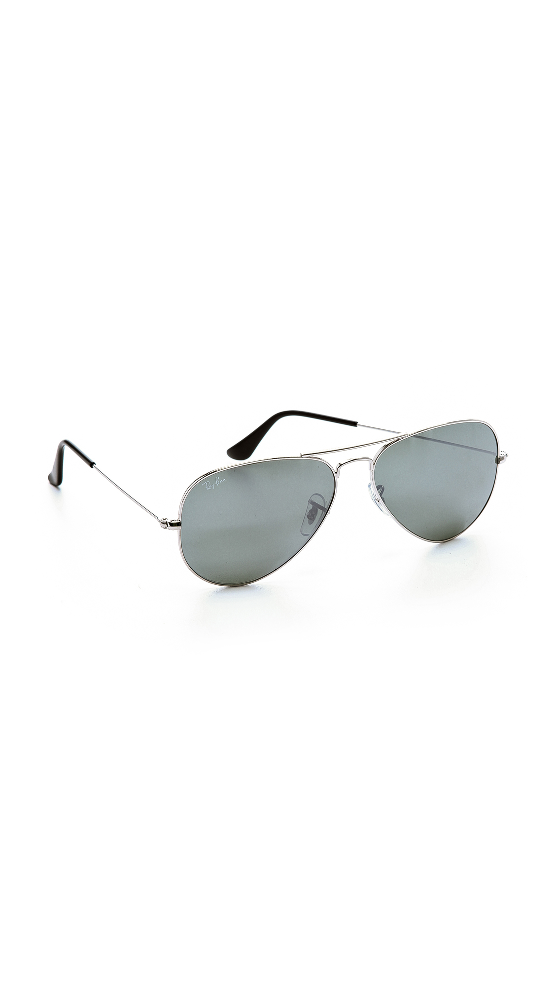 $ BUY NOW. In the world of aviator sunglasses, none are more iconic than Ray-Ban. This pair gives the classic frames a facelift with rainbow-mirrored lenses.