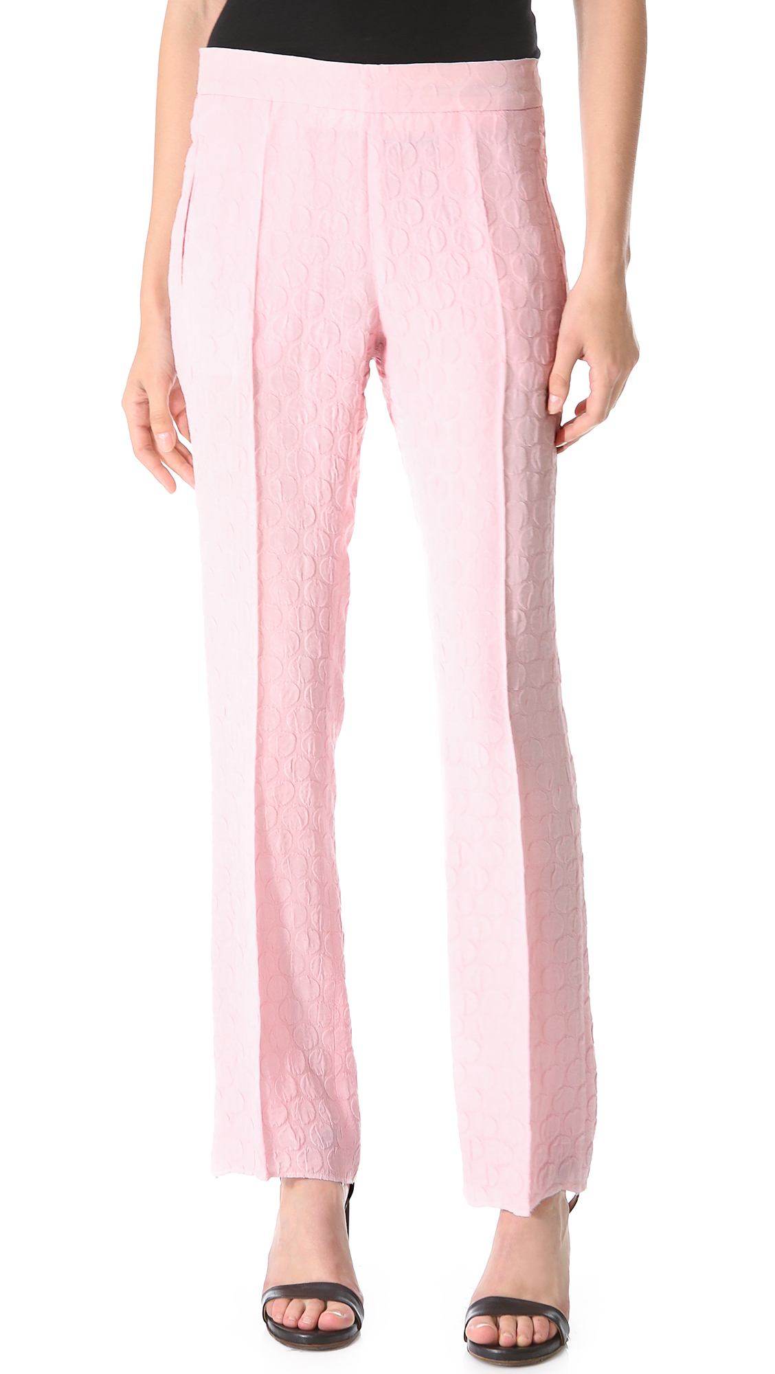 polka dot pants rochas polka dot in pink lyst 30737