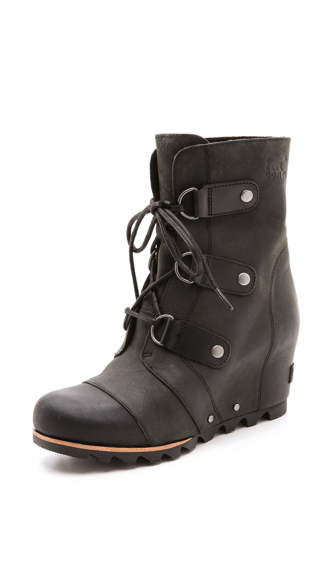 Sorel Joan Of Arctic Wedge Booties In Black Lyst