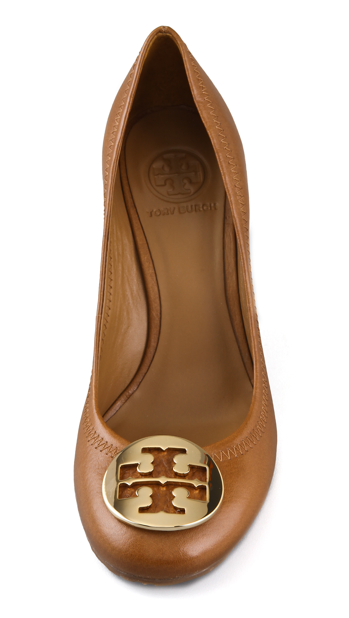 c96b43e59d190 Lyst - Tory Burch Sophie Wedge Pumps in Brown