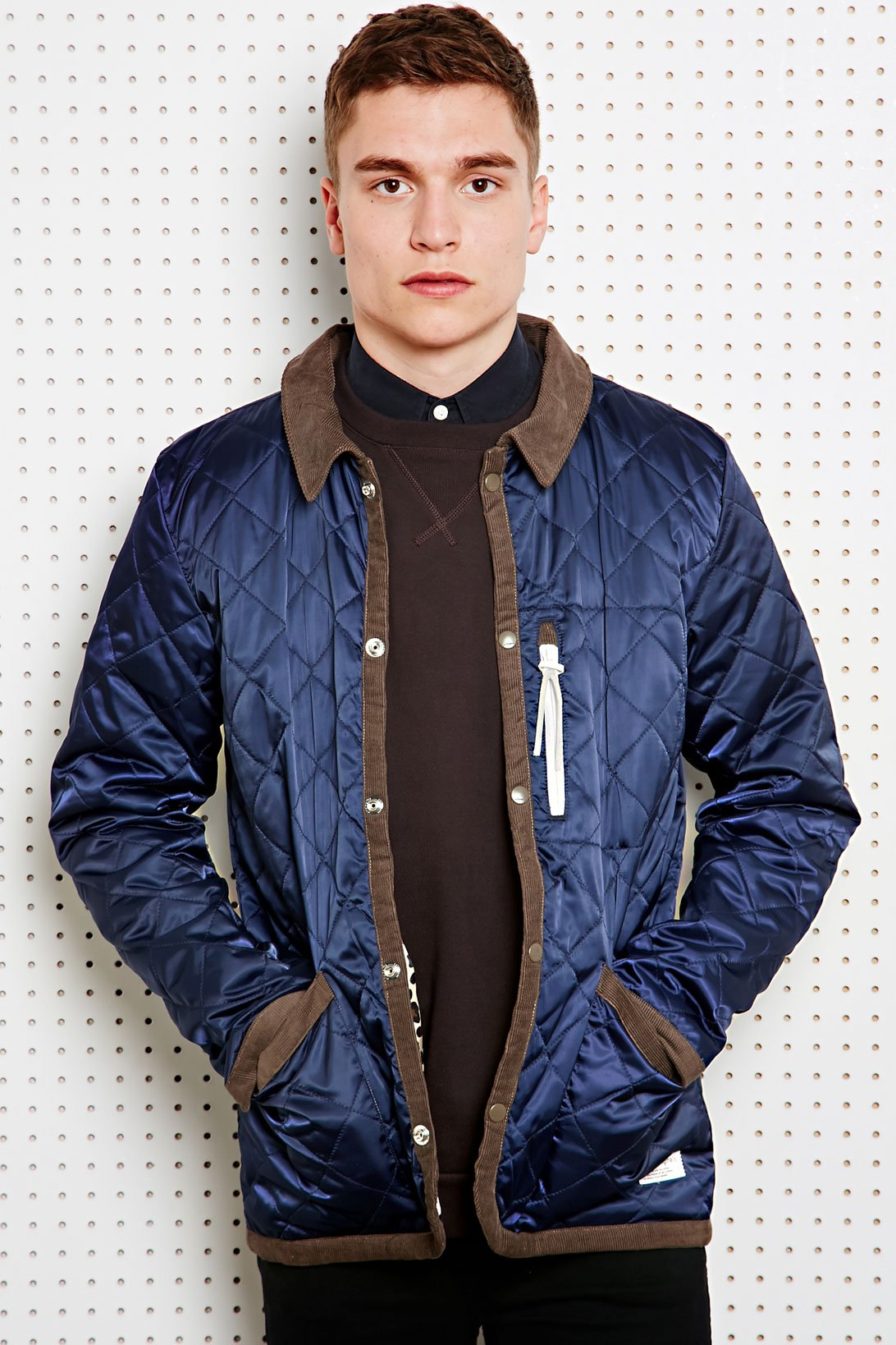 Adidas Quilted Dog Keeper Jacket In Blue For Men Lyst