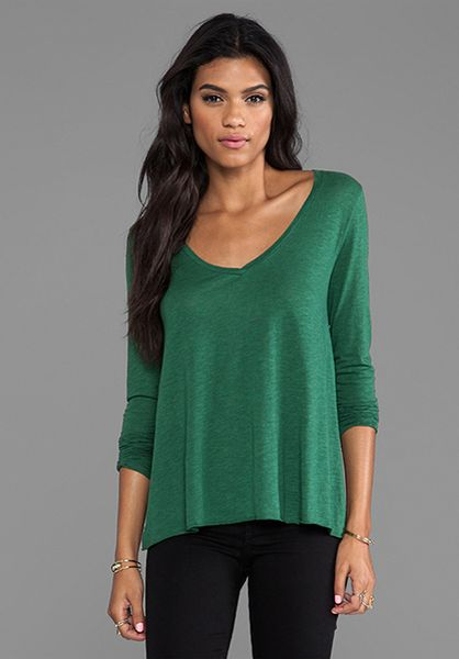 american vintage jacksonville long sleeve tee in green in green lyst. Black Bedroom Furniture Sets. Home Design Ideas